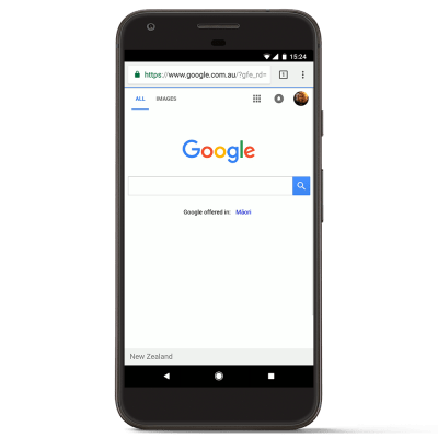 Interface Google Mobile